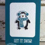 Penguin Card with 'Snow Place' stamp set