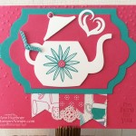 New Card with Cups and Kettle Framelits Dies